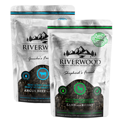 Riverwood Puolikosteat viljattomat makupalat, 200 g